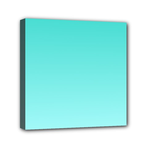 Turquoise To Celeste Gradient Mini Canvas 6  x 6  (Framed)