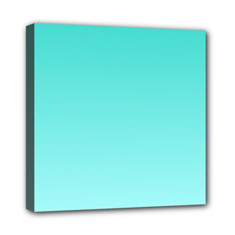 Turquoise To Celeste Gradient Mini Canvas 8  X 8  (framed)
