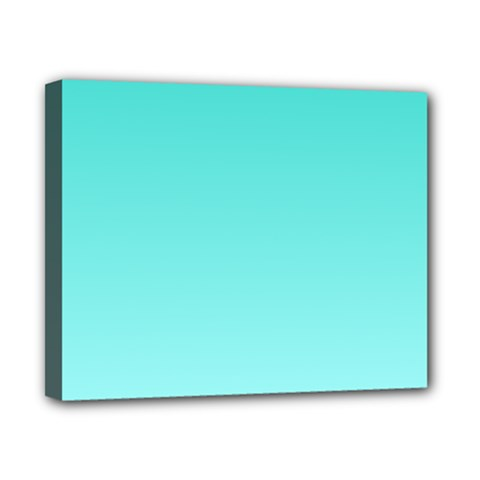 Turquoise To Celeste Gradient Canvas 10  x 8  (Framed)