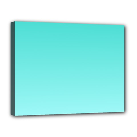 Turquoise To Celeste Gradient Canvas 14  x 11  (Framed)