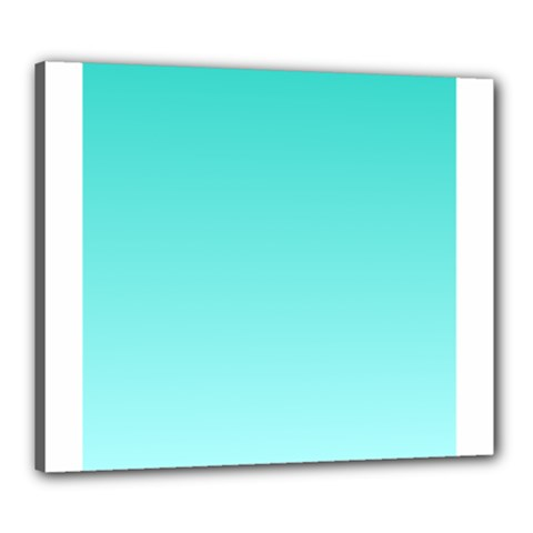 Turquoise To Celeste Gradient Canvas 24  X 20  (framed)