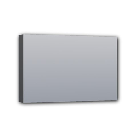 Gainsboro To Roman Silver Gradient Mini Canvas 6  X 4  (framed)