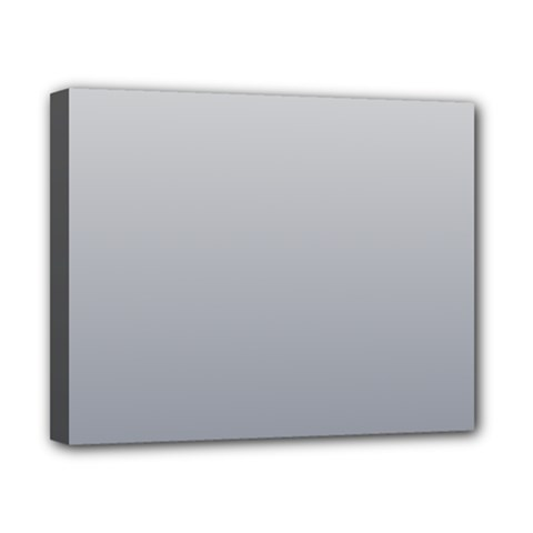 Gainsboro To Roman Silver Gradient Canvas 10  x 8  (Framed)