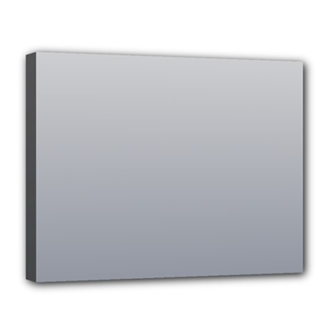Gainsboro To Roman Silver Gradient Canvas 14  X 11  (framed)