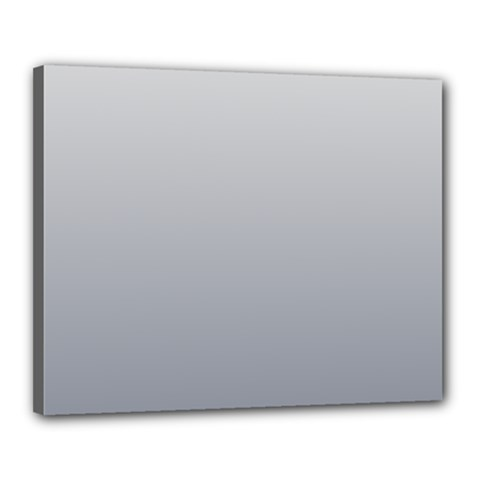 Gainsboro To Roman Silver Gradient Canvas 20  X 16  (framed)