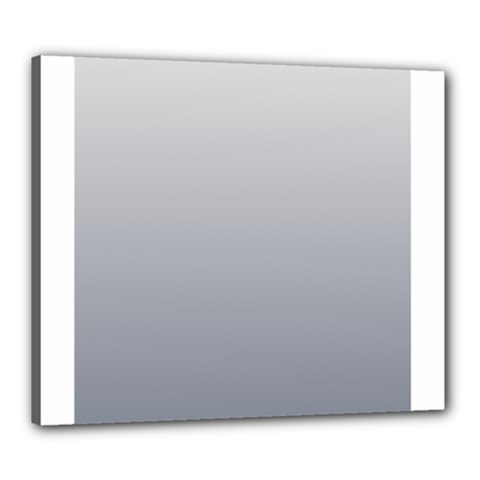 Gainsboro To Roman Silver Gradient Canvas 24  x 20  (Framed)