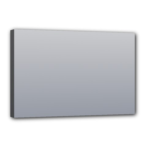 Gainsboro To Roman Silver Gradient Canvas 18  X 12  (framed)