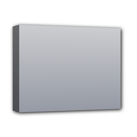Gainsboro To Roman Silver Gradient Deluxe Canvas 14  x 11  (Framed)