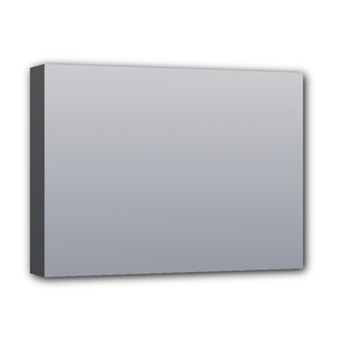 Gainsboro To Roman Silver Gradient Deluxe Canvas 16  x 12  (Framed)