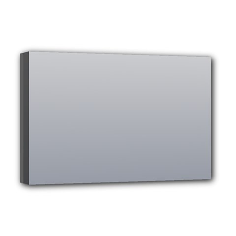 Gainsboro To Roman Silver Gradient Deluxe Canvas 18  x 12  (Framed)