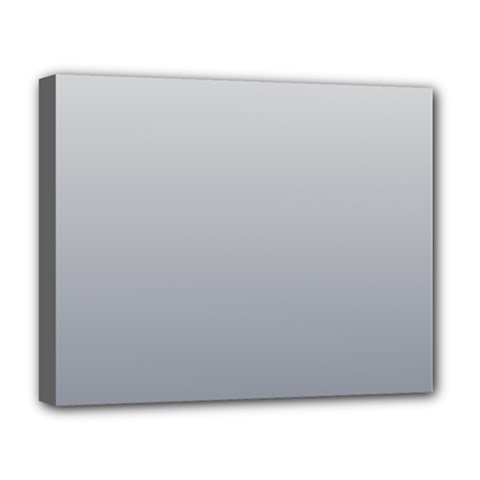 Gainsboro To Roman Silver Gradient Deluxe Canvas 20  x 16  (Framed)