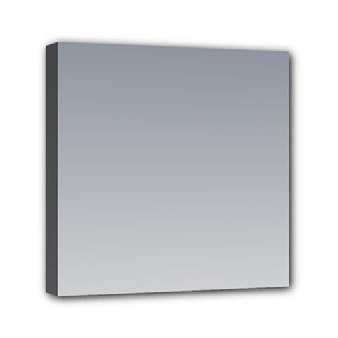 Roman Silver To Gainsboro Gradient Mini Canvas 6  X 6  (framed)