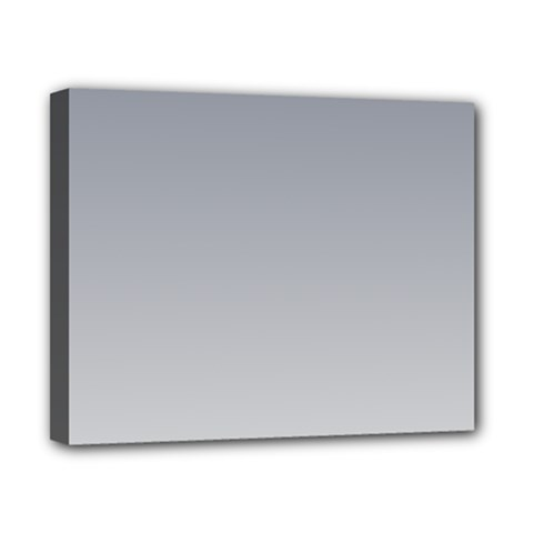 Roman Silver To Gainsboro Gradient Canvas 10  x 8  (Framed)
