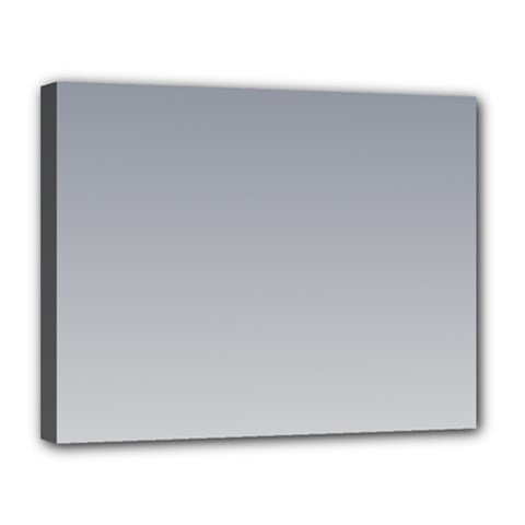 Roman Silver To Gainsboro Gradient Canvas 14  X 11  (framed)
