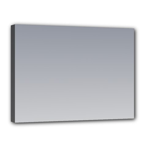 Roman Silver To Gainsboro Gradient Canvas 16  x 12  (Framed)