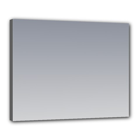 Roman Silver To Gainsboro Gradient Canvas 20  X 16  (framed)
