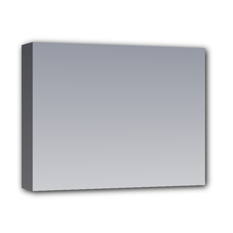 Roman Silver To Gainsboro Gradient Deluxe Canvas 14  x 11  (Framed)
