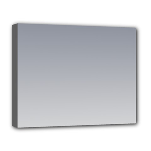 Roman Silver To Gainsboro Gradient Deluxe Canvas 20  x 16  (Framed)