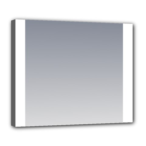 Roman Silver To Gainsboro Gradient Deluxe Canvas 24  x 20  (Framed)