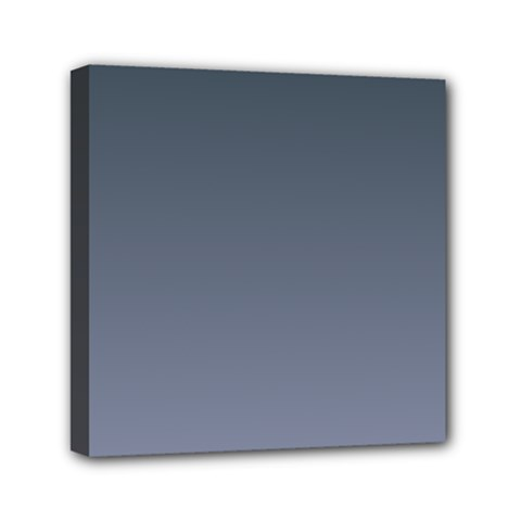 Charcoal To Cool Gray Gradient Mini Canvas 6  x 6  (Framed)