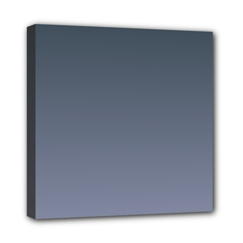 Charcoal To Cool Gray Gradient Mini Canvas 8  x 8  (Framed)