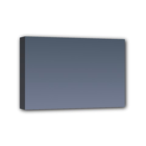 Charcoal To Cool Gray Gradient Mini Canvas 6  x 4  (Framed)