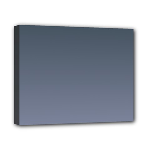 Charcoal To Cool Gray Gradient Canvas 10  x 8  (Framed)