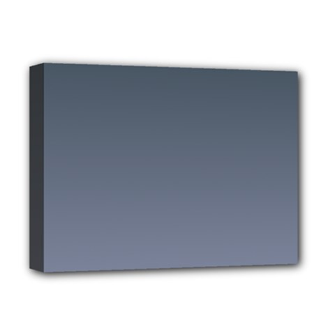 Charcoal To Cool Gray Gradient Deluxe Canvas 16  x 12  (Framed)