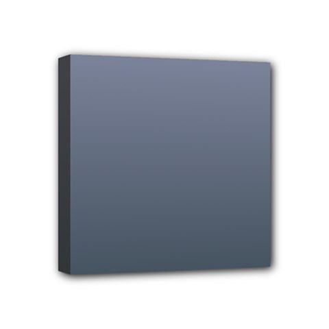 Cool Gray To Charcoal Gradient Mini Canvas 4  X 4  (framed)