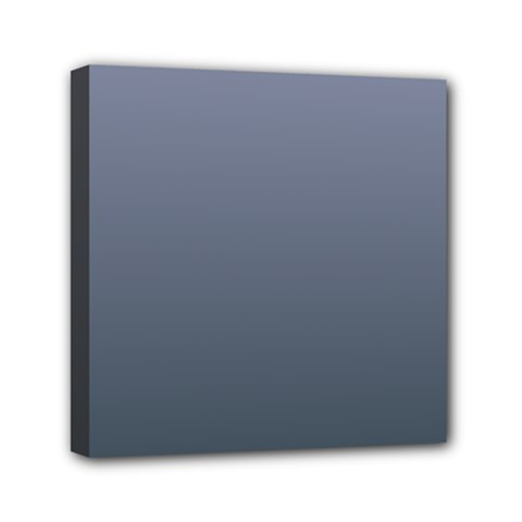 Cool Gray To Charcoal Gradient Mini Canvas 6  X 6  (framed)