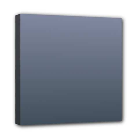 Cool Gray To Charcoal Gradient Mini Canvas 8  x 8  (Framed)