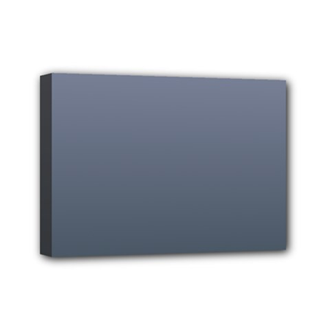 Cool Gray To Charcoal Gradient Mini Canvas 7  x 5  (Framed)
