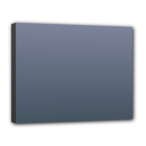 Cool Gray To Charcoal Gradient Canvas 14  x 11  (Framed)