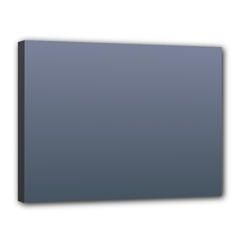 Cool Gray To Charcoal Gradient Canvas 16  x 12  (Framed)