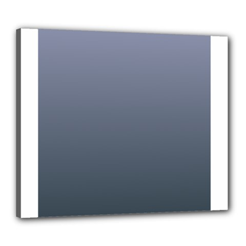 Cool Gray To Charcoal Gradient Canvas 24  x 20  (Framed)