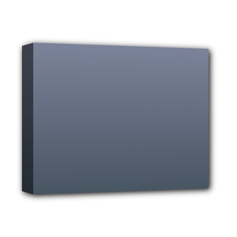 Cool Gray To Charcoal Gradient Deluxe Canvas 14  X 11  (framed)