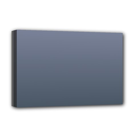Cool Gray To Charcoal Gradient Deluxe Canvas 18  x 12  (Framed)