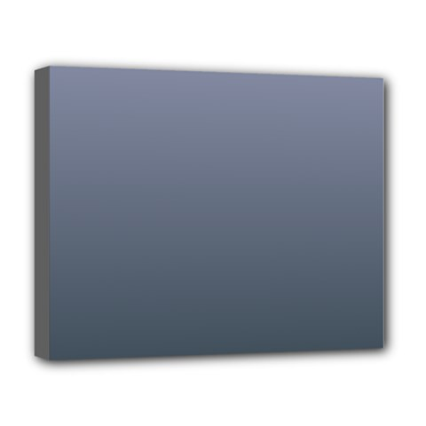 Cool Gray To Charcoal Gradient Deluxe Canvas 20  x 16  (Framed)