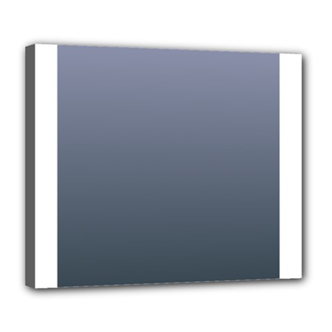 Cool Gray To Charcoal Gradient Deluxe Canvas 24  x 20  (Framed)