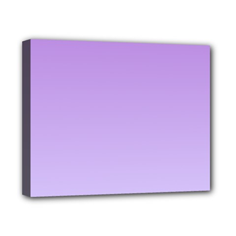 Lavender To Pale Lavender Gradient Canvas 10  x 8  (Framed)