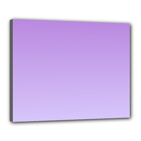 Lavender To Pale Lavender Gradient Canvas 20  x 16  (Framed)