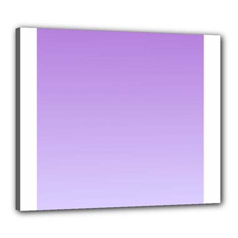 Lavender To Pale Lavender Gradient Canvas 24  X 20  (framed)