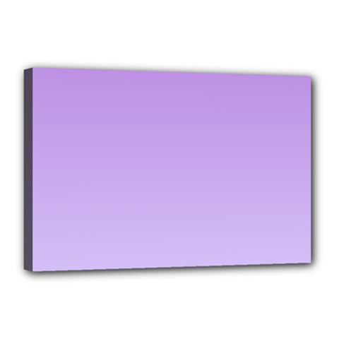 Lavender To Pale Lavender Gradient Canvas 18  x 12  (Framed)
