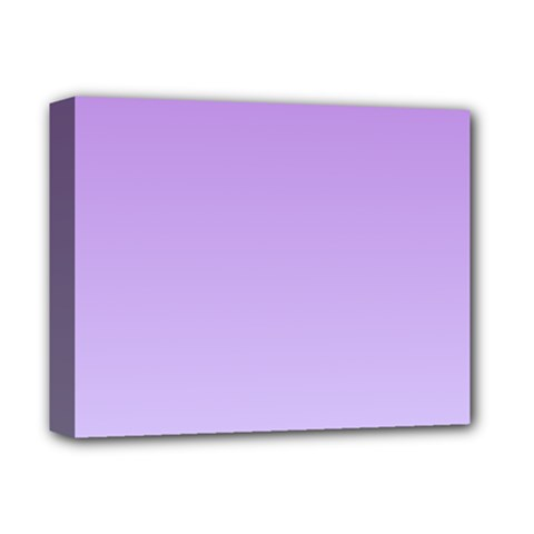 Lavender To Pale Lavender Gradient Deluxe Canvas 14  x 11  (Framed)