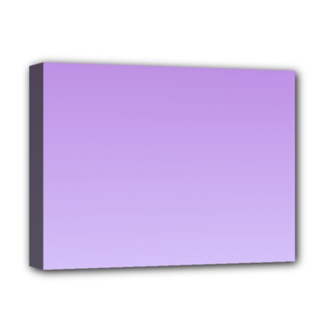 Lavender To Pale Lavender Gradient Deluxe Canvas 16  X 12  (framed)