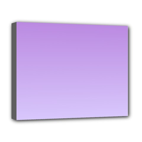 Lavender To Pale Lavender Gradient Deluxe Canvas 20  x 16  (Framed)