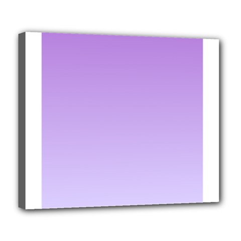 Lavender To Pale Lavender Gradient Deluxe Canvas 24  X 20  (framed)