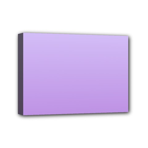 Pale Lavender To Lavender Gradient Mini Canvas 7  X 5  (framed)