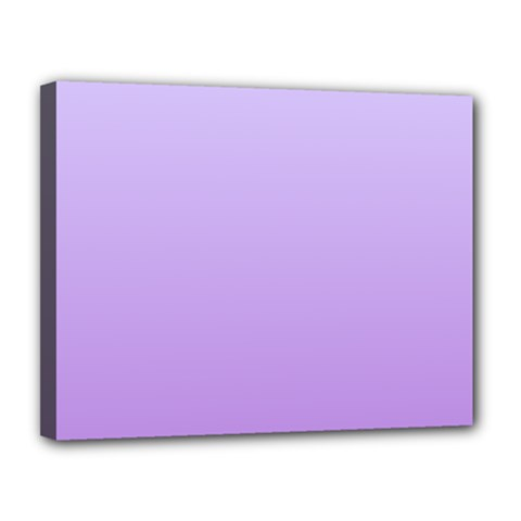 Pale Lavender To Lavender Gradient Canvas 14  X 11  (framed)