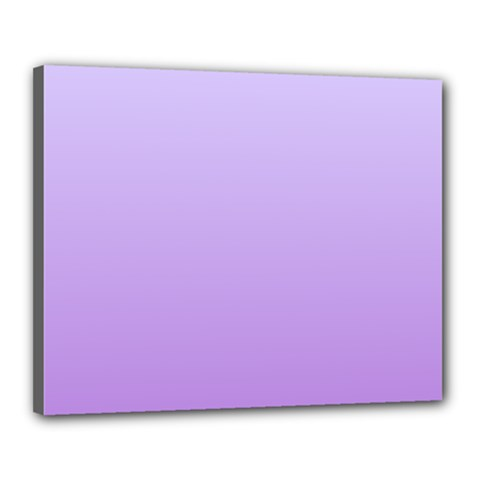 Pale Lavender To Lavender Gradient Canvas 20  X 16  (framed)